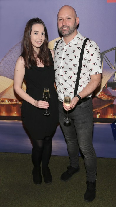 Sarah Glascott and Rory Carrick pictured at the Emirates Christmas Down Under party at House in Leeson Street,Dublin. Pic Brian McEvoy No Repro fee for one use