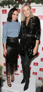 Niamh Doherty and Pippa O Connor pictured at the Emirates Christmas Down Under party at House in Leeson Street,Dublin. Pic Brian McEvoy No Repro fee for one use