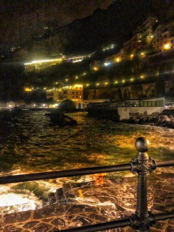 amalfi town at night