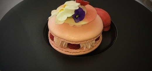 Raspberry Cheesecake Macaron By Chef Orna Larkin at Intercontinental Dublin