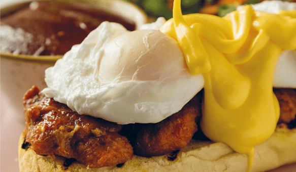 Eggs Benedict with Chorizo Patties Recipe By Simon Delaney