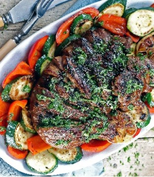 Siúcra x Catherine Fulvio's Greek Style Butterflied Leg of Lamb with Chimichurri Recipe