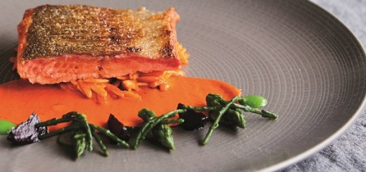 Wild Sea Trout Red Pepper Orzo and Glazed Beetroot Recipe By Chef Adrian