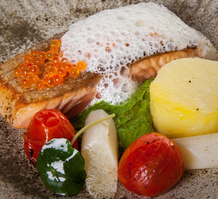 Pan Roast Salmon Fillet Recipe by Chef Igor From The Gibson