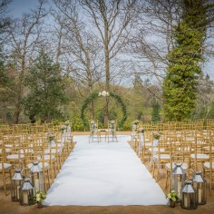 Druids Glen 'The Woodland' Outdoor Ceremony with Arch Close Up