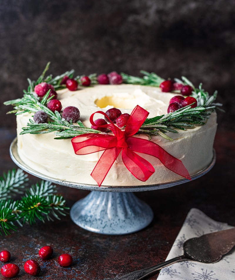 Christmas Wreath Cake Recipe From Siúcra By Catherine Fulvio