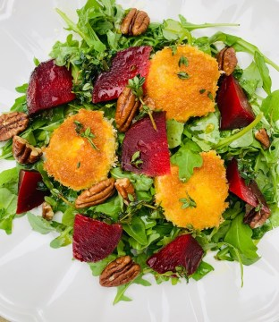 Panko Coated Goats Cheese & Beetroot Salad By Ciara's Kitchen