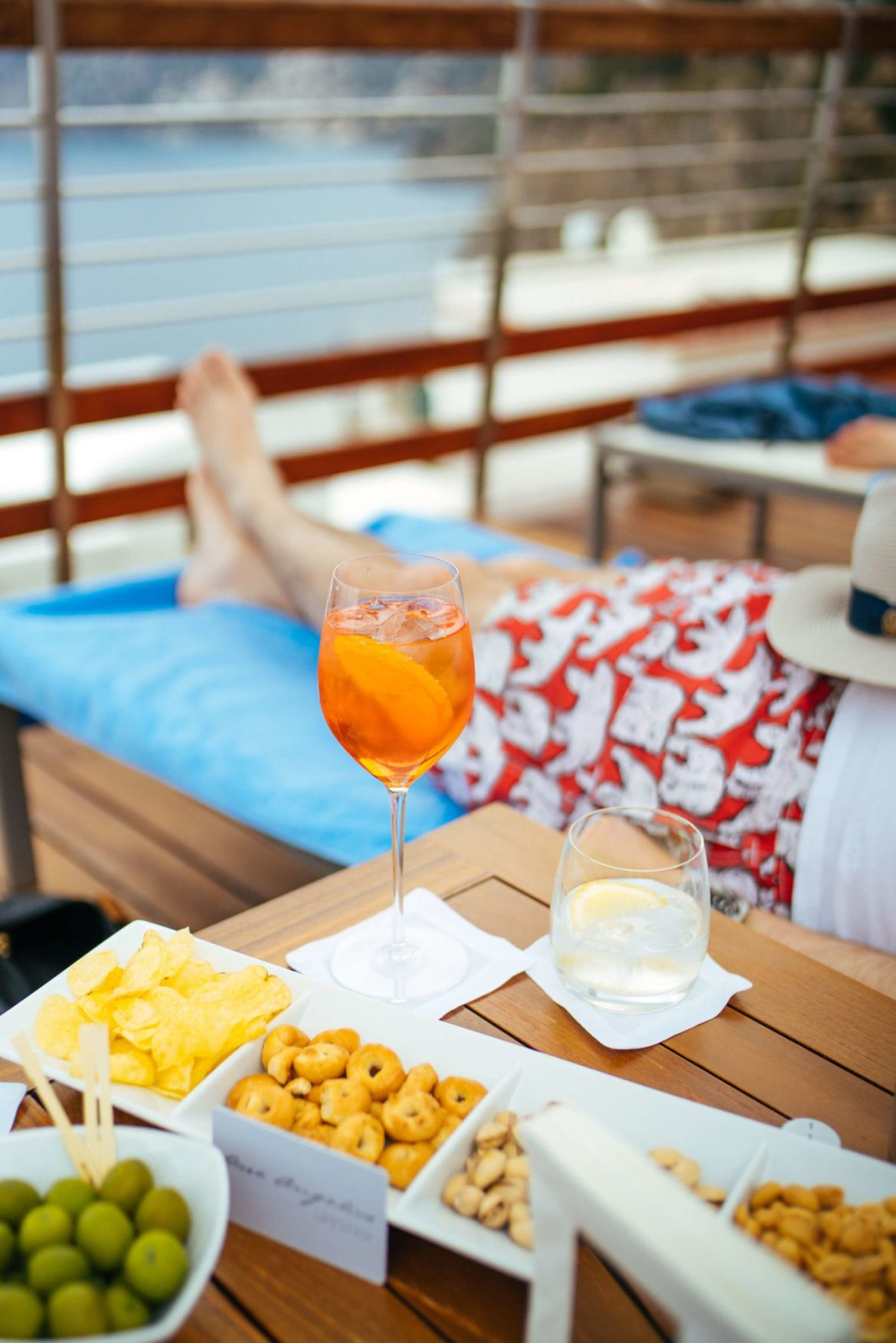Aperol spritz by the pool at Casa Angelina Lifestyle Hotel in Praiano Italy, The Taste Edit