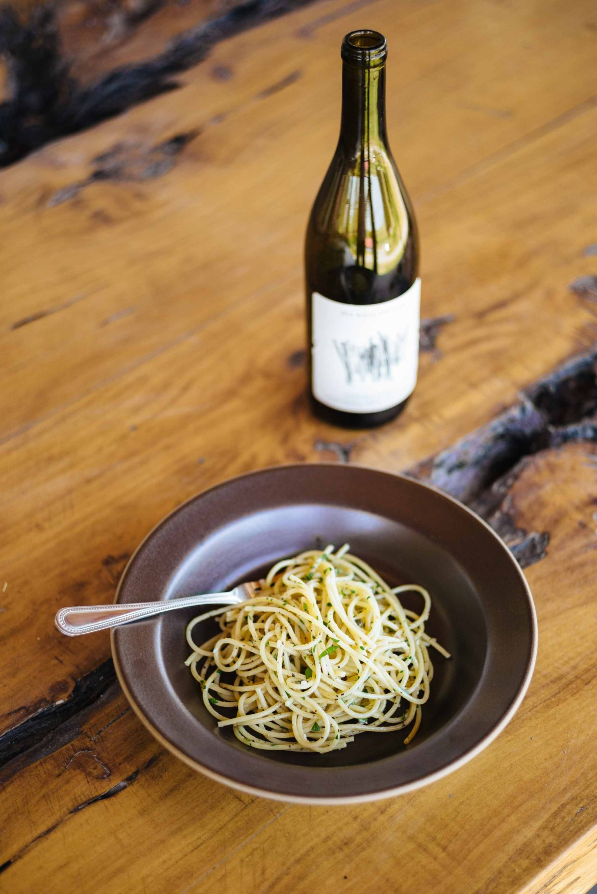 Pair a crisp wine with spaghetti with anchovies and capers.   thetasteedit.com #recipe #pasta #easy