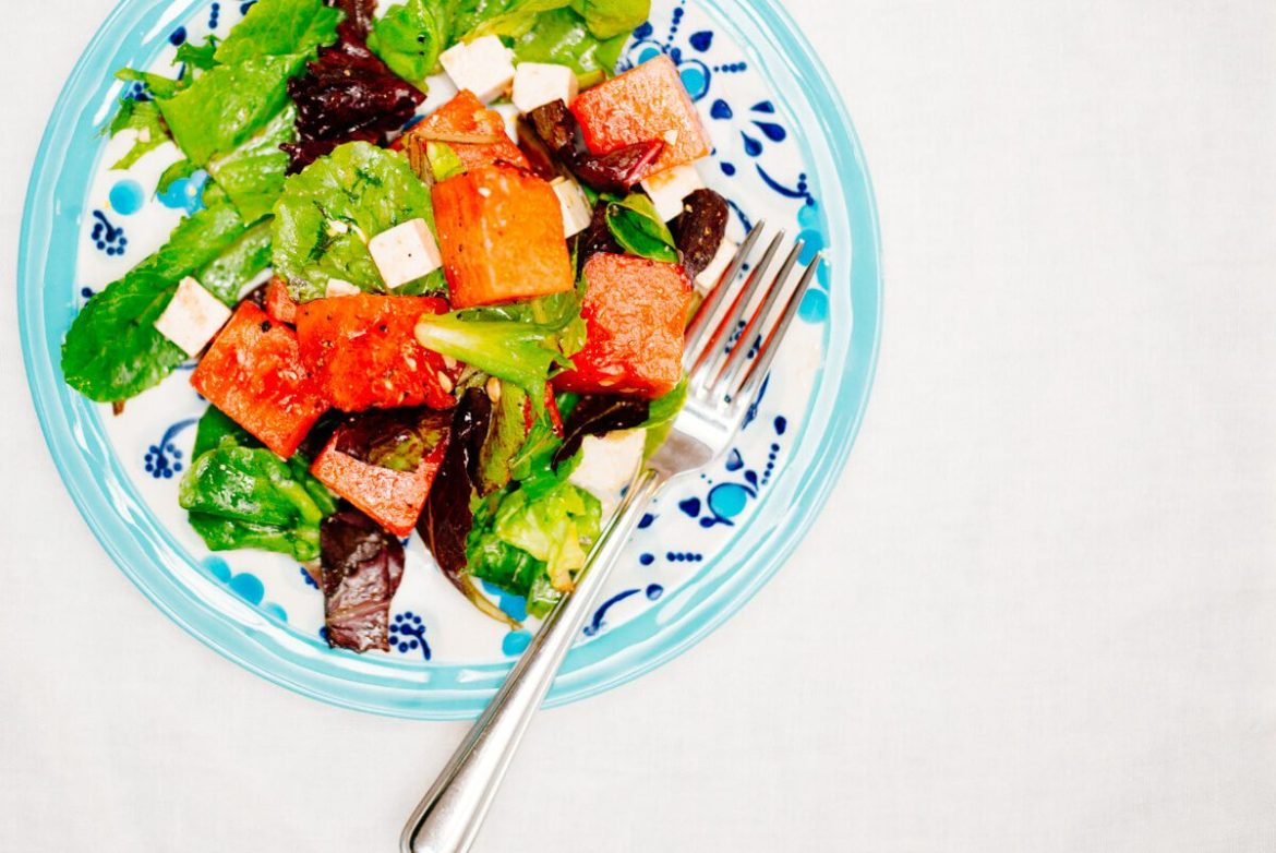 Watermelon Ricotta Salata Salad is a perfect salad for the summer or bbq