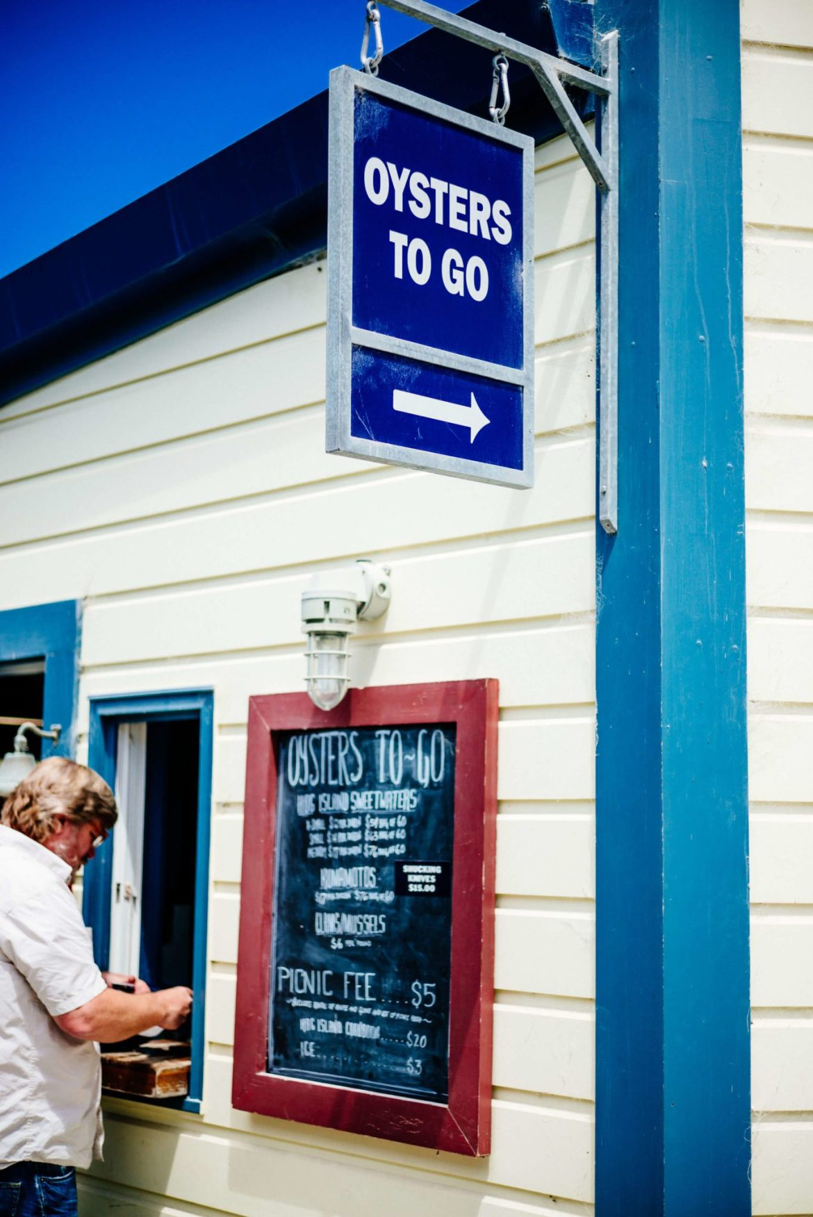 Oysters to Go at Hog Island Oyster Farm in Marshall, Ca - Tamales Bay