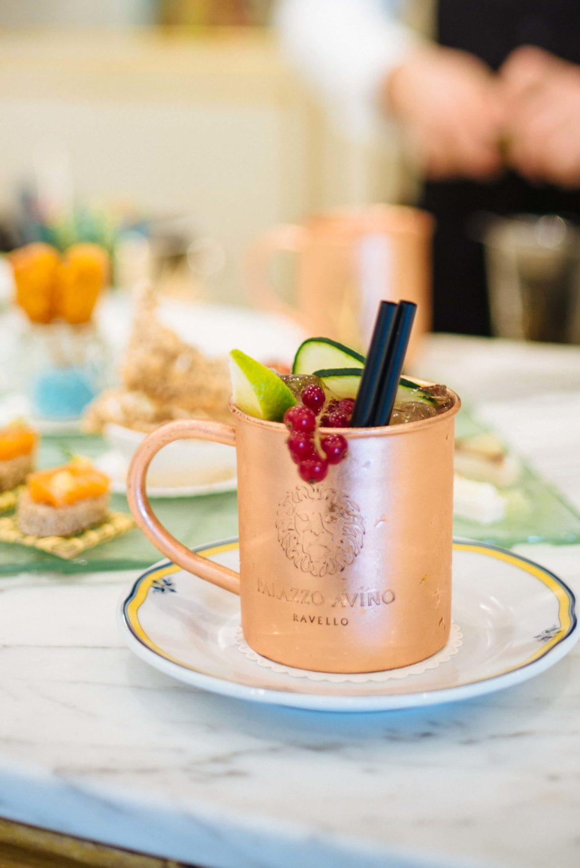 Moscow Mule Cocktail at Palazzo Avino's Lobster and Martini Bar in Ravello, Italy, The Taste Edit