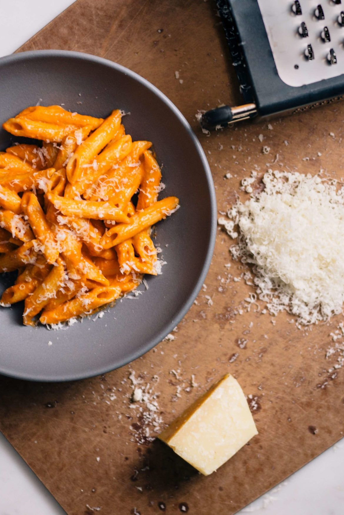Penne alla Vodka pasta dish is a perfect dinner recipe made by The Taste Edit