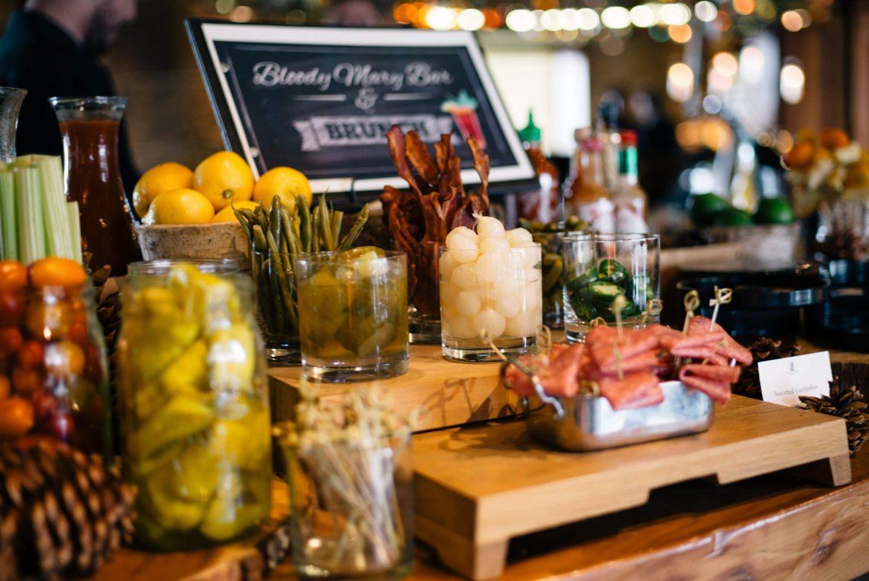 Bloody Mary and Mimosa bar at Brunch at Manzanita at The Ritz-Carlton Lake Tahoe CA, The Taste Edit