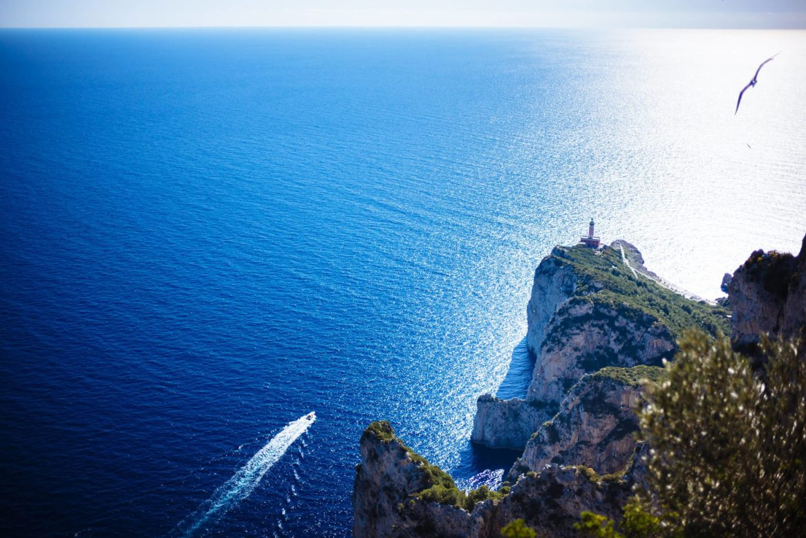 walk the path to see the lighthouse from da gelsomina restaurant in capri, italy, the taste edit