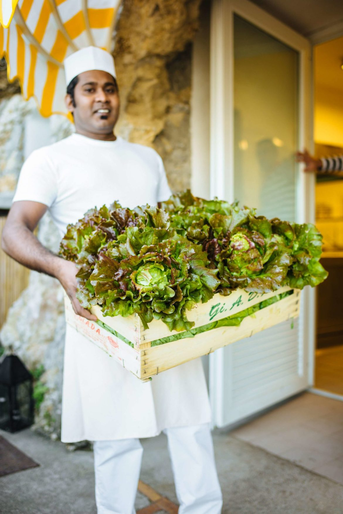 The bounty of vegetables from the edible garden at Hotel Caesar Augustus in Capri, The Taste Edit