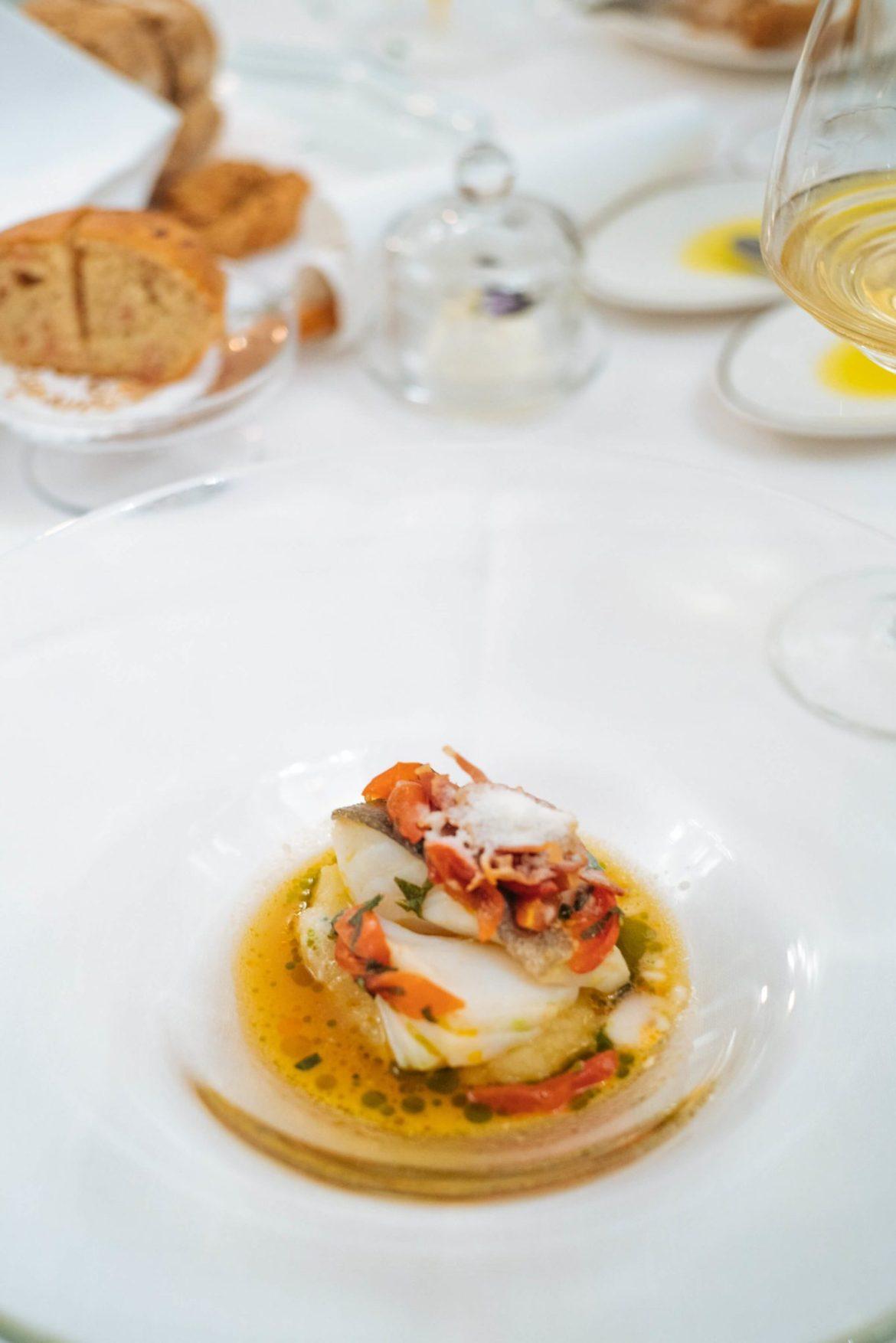 Il Bacala alla Amatriciana at Rossellini's Restaurant in Palazzo Avino, Ravello Italy, The Taste Edit