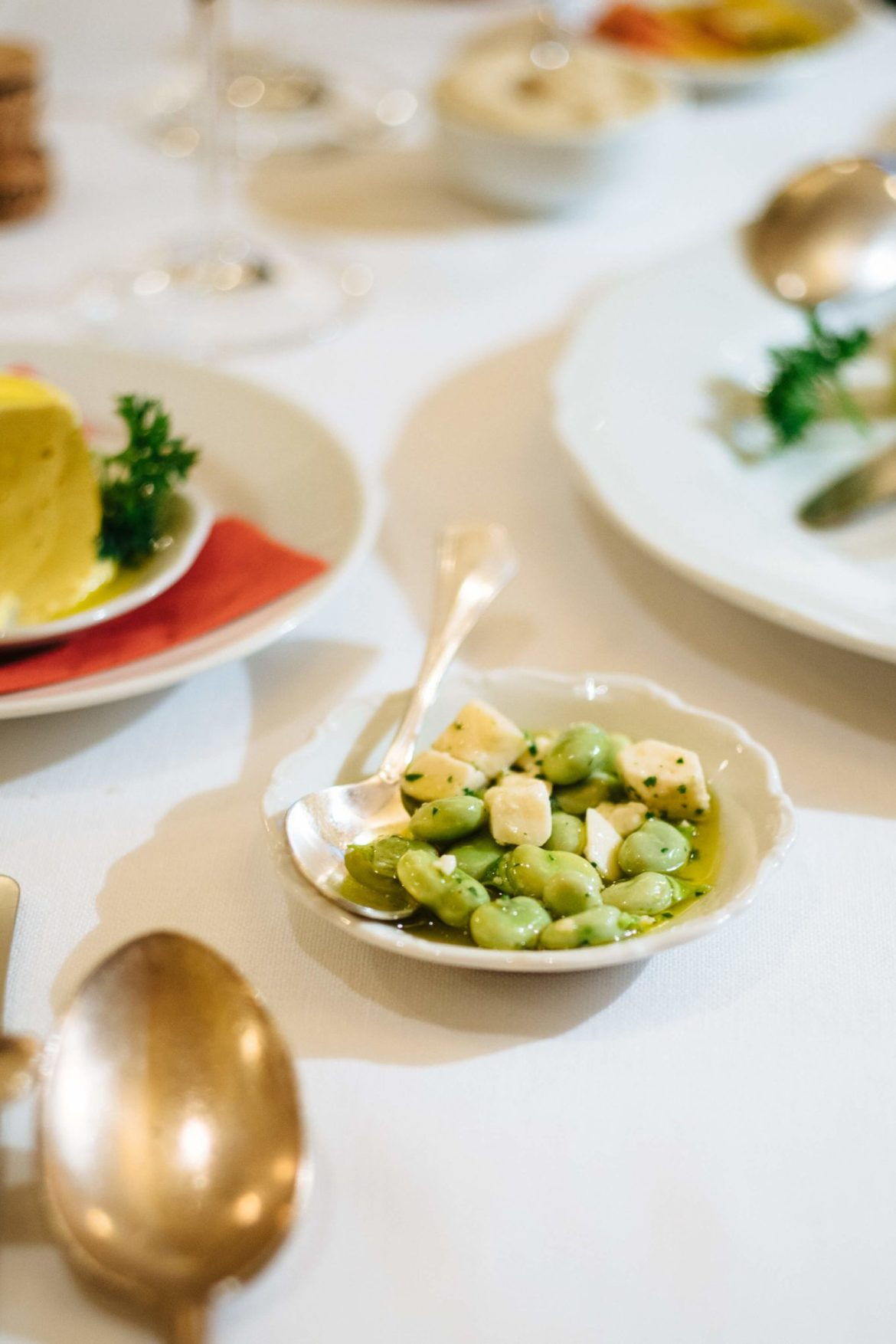 Fava beans with pecorino cheese at Ristorante Cibreo in Florence, The Taste Edit