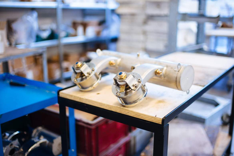 La Marzocco Linea parts for the Espresso maker La Marzocco Factory Tour in Florence, The Taste Edit