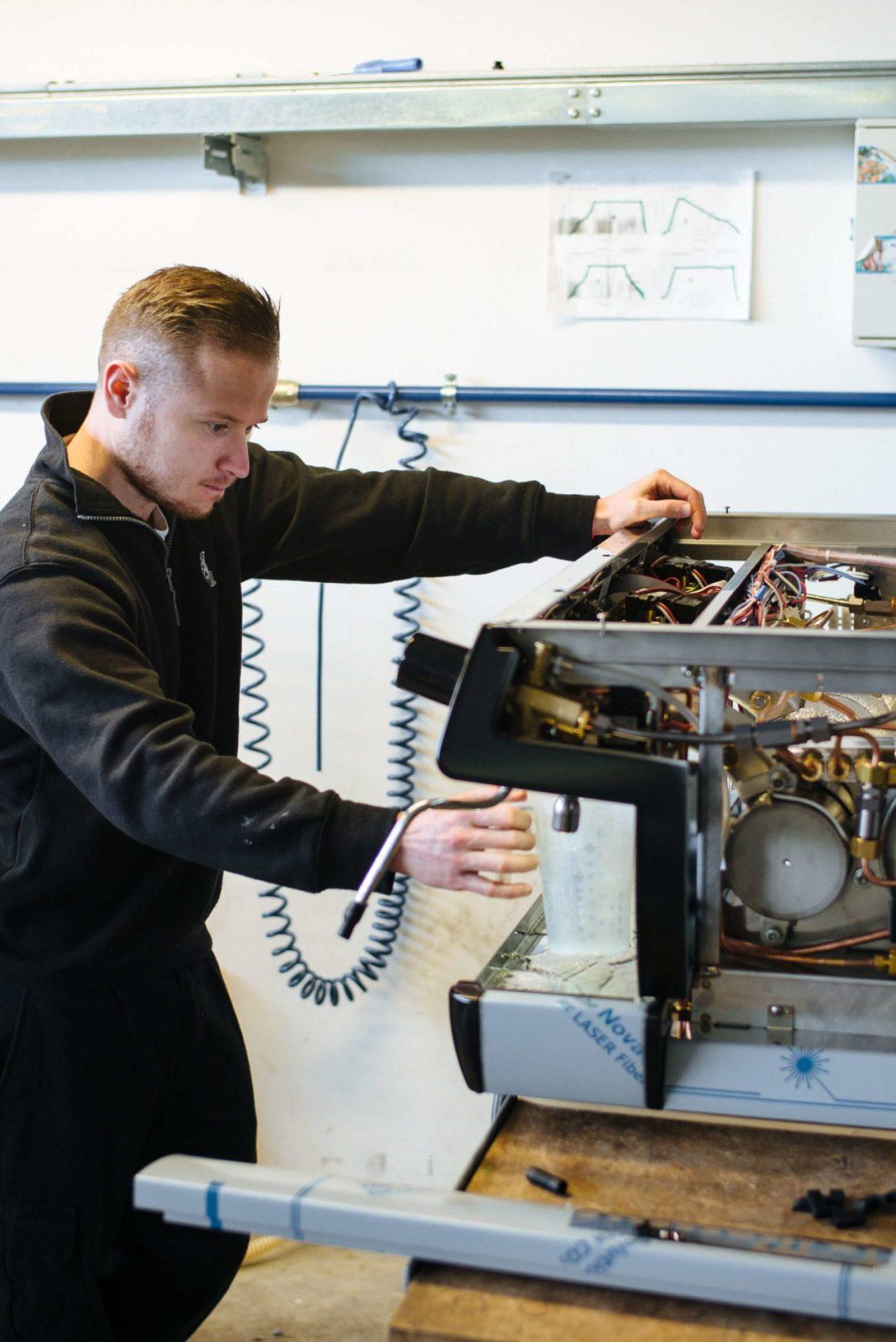 Bench Testing the La Marzocco Linea Espresso maker La Marzocco Factory Tour in Florence, The Taste Edit