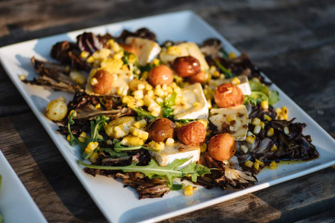 Grille radicchio and corn salad with Mt. Tam Cheese, Ox Restaurant in Portland, The Taste Edit