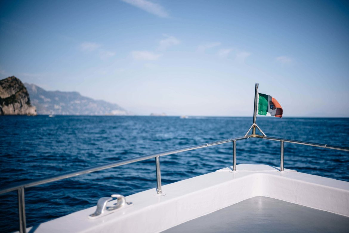 Take a boat or ferry ride in the Amalfi Coast for a different perspective and view of Italy, The Taste Edit