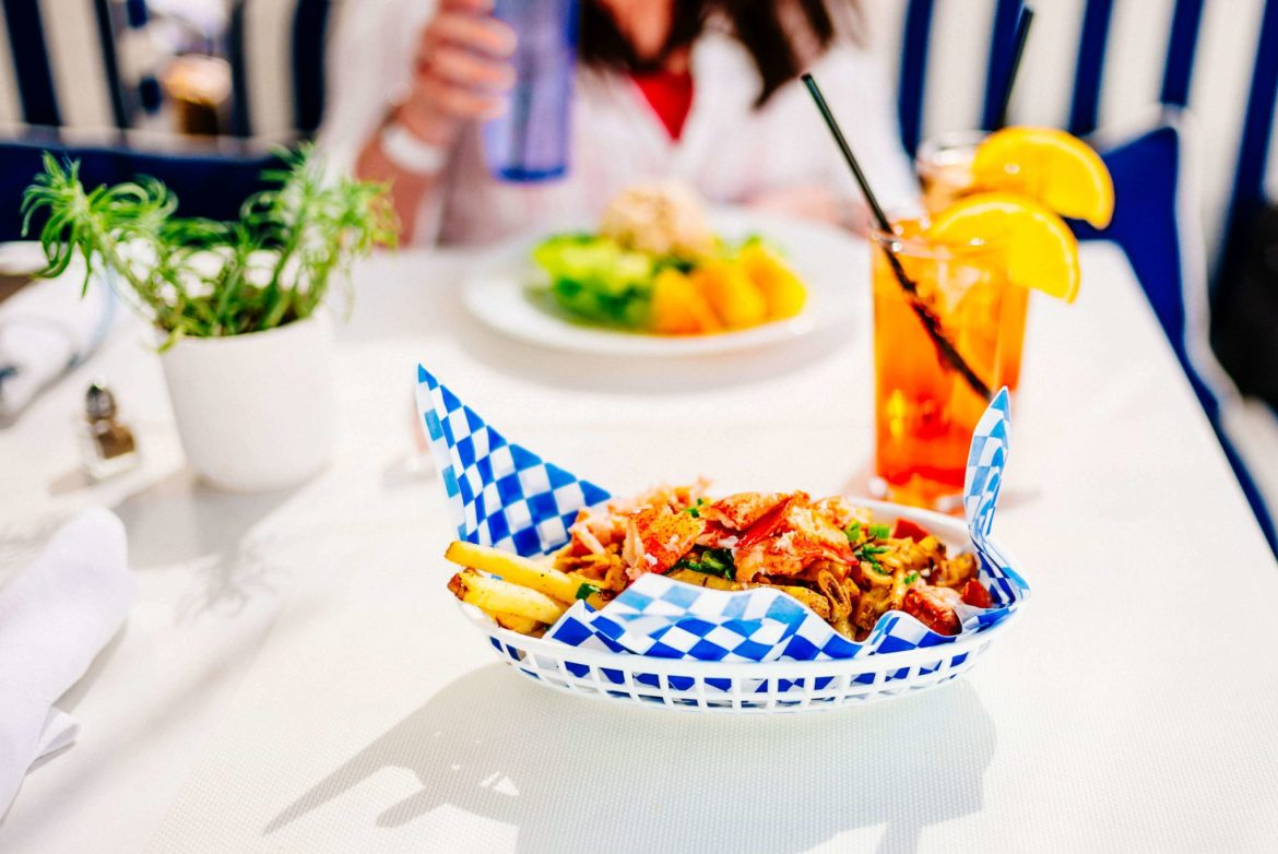 Have lunch or cocktails at Holiday House in Palm Springs is an adorable hotel in the heart of downtown, The Taste Edit
