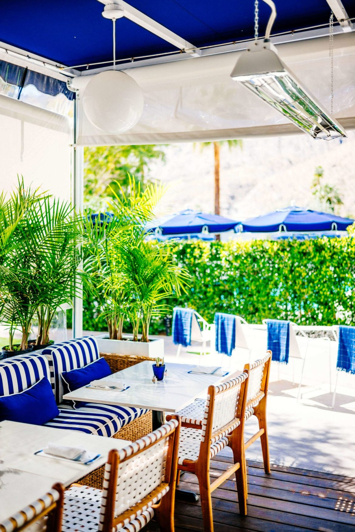 Visit Holiday House in Palm Springs is an adorable hotel in the heart of downtown for lunch or brunch, The Taste Edit