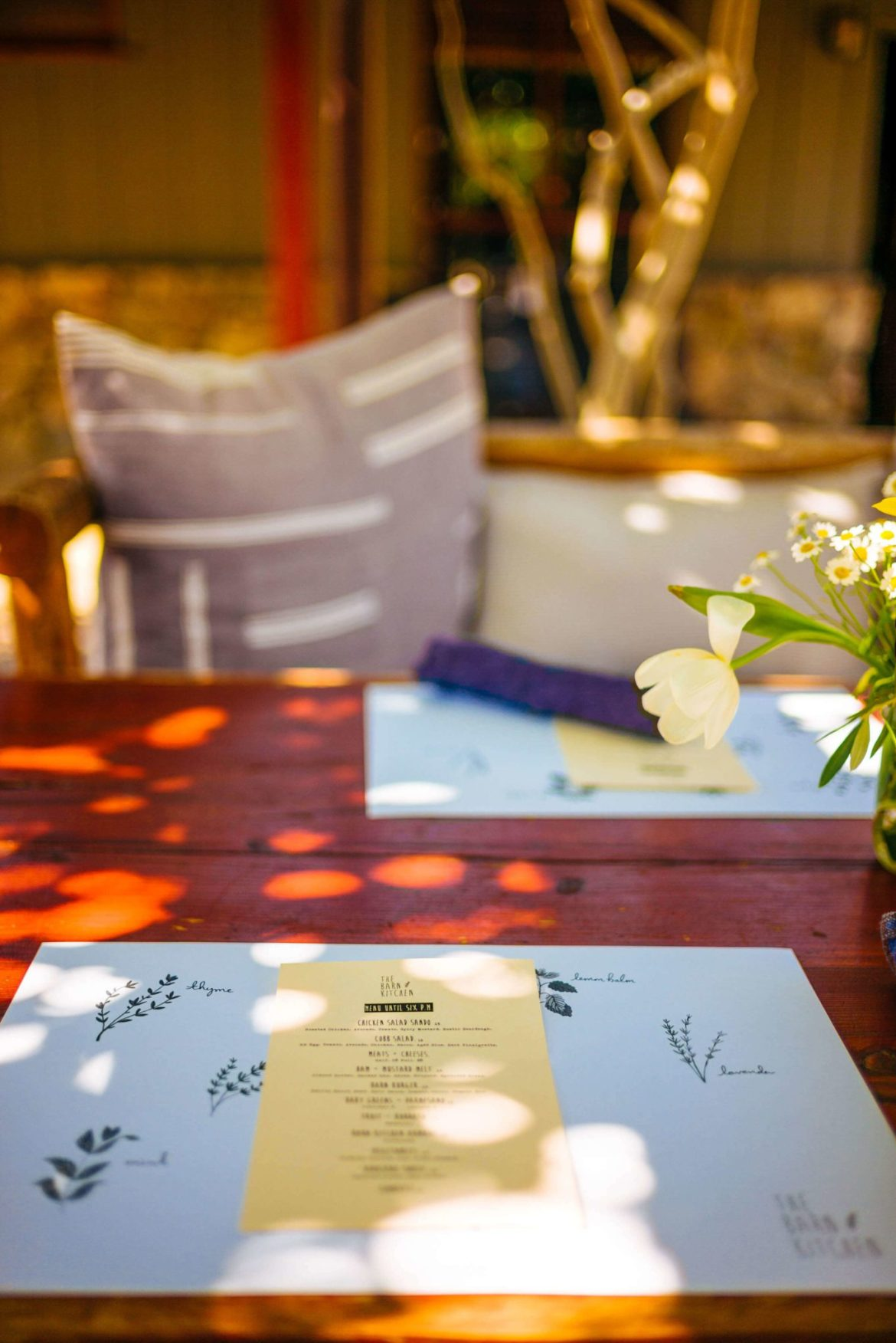 The most relaxing lunch and best restaurant in Palm Springs outside is at the Barn Kitchen at Sparrows Lodge in Palm Springs, thetasteedit