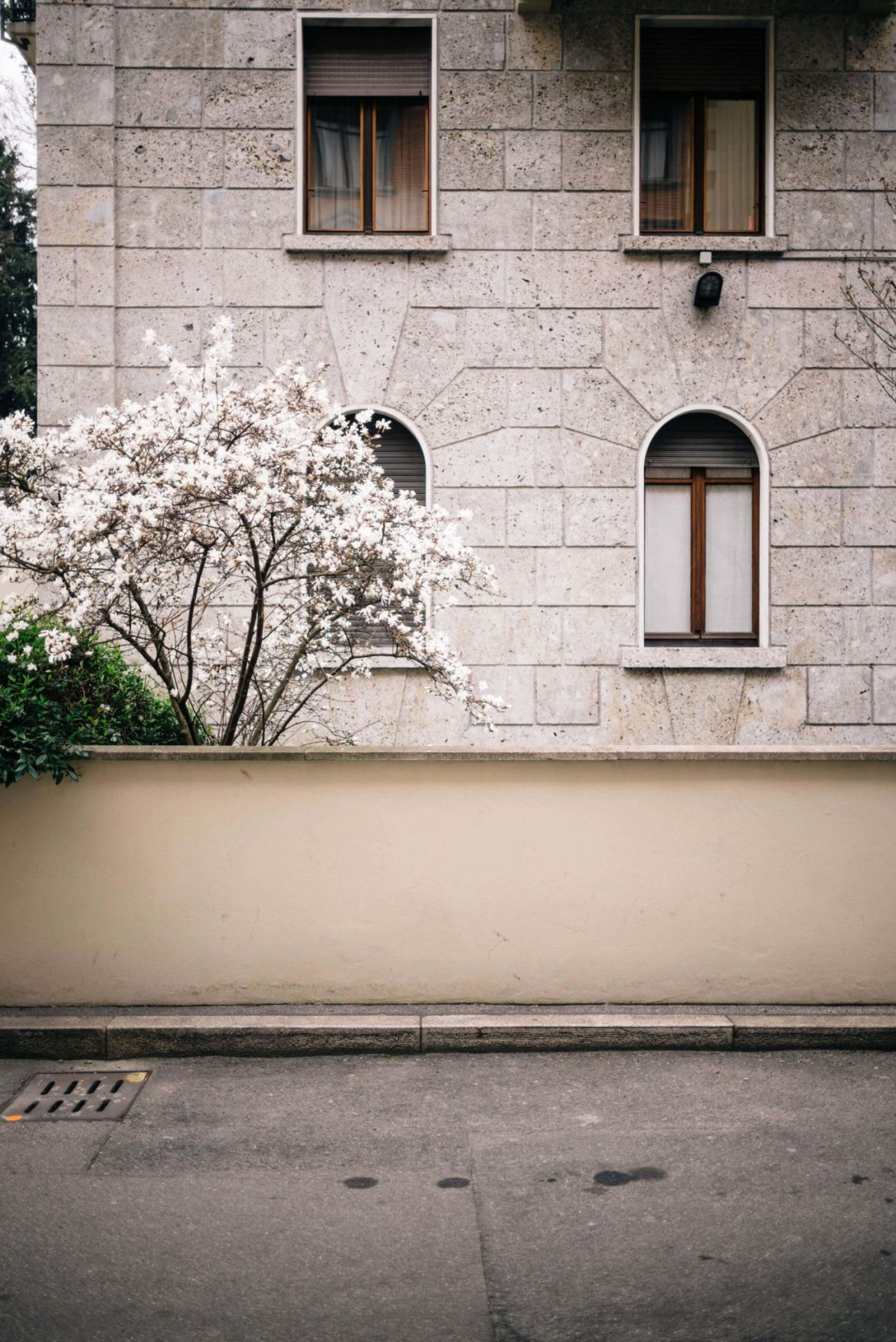 The neighborhood where the luxury Hotel Bulgari Milano is located is full of blooming trees in the spring, The Taste Edit