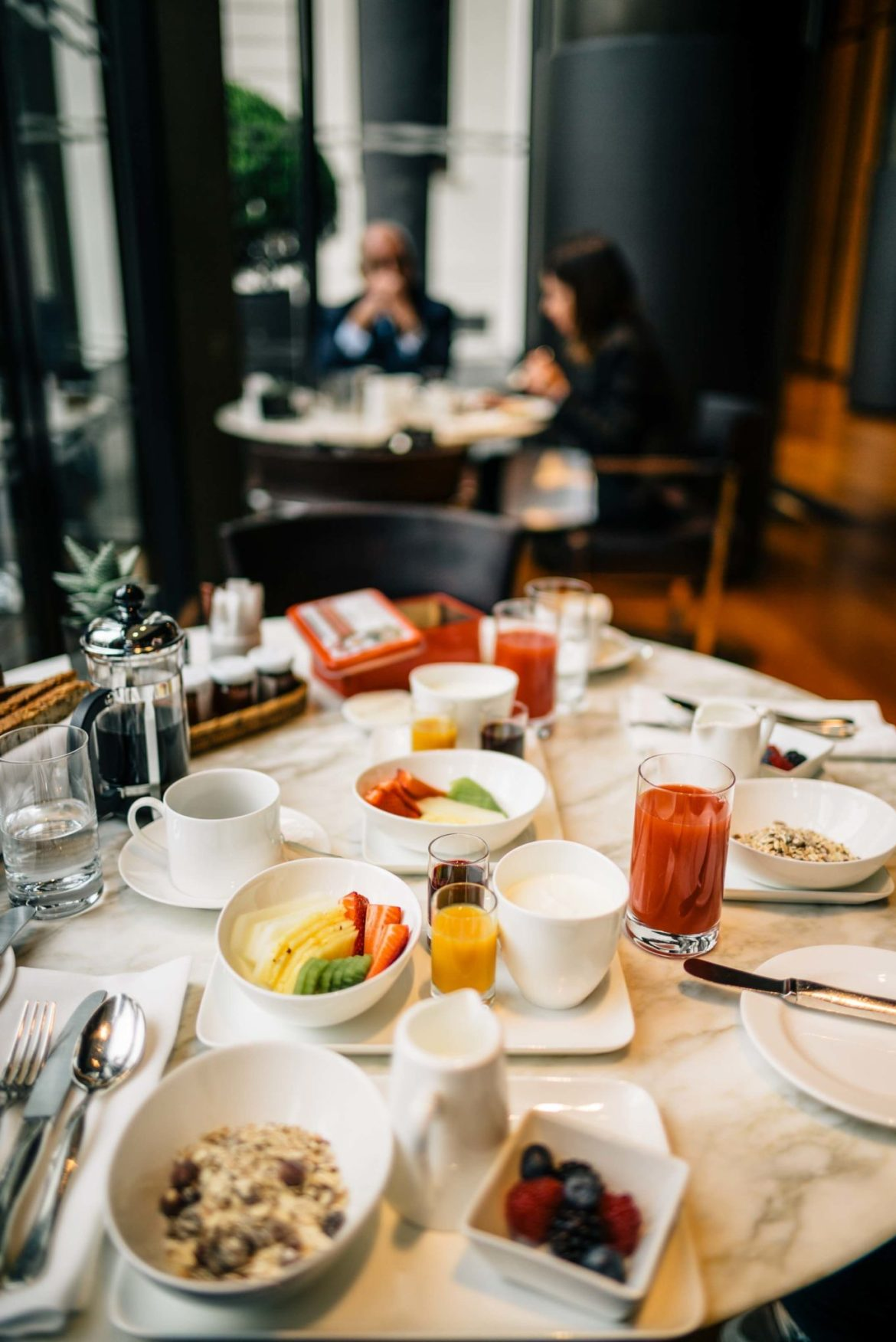 The blood orange juice was our favorite pick for fresh squeezed juice at breakfast at Hotel Bulgari Milano, The Taste Edit