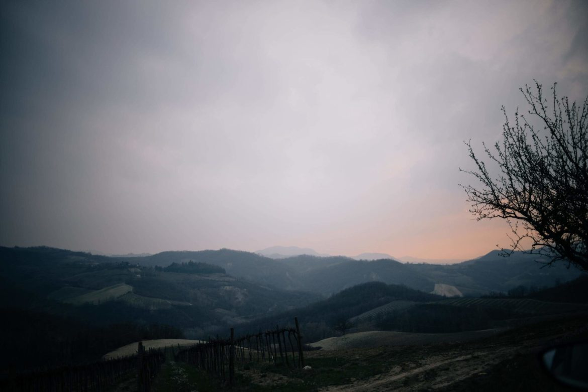 The Taste Edit, culinary photographers, recommends visiting this magical winery in northern Italy. Castello di Stefanago is near the town of Pavia in Lombardy. Winemaker and owner Giacomo Baruffaldi gives us a tour of the winery where they make Baruffaldi natural wines. Sunset over the hills.