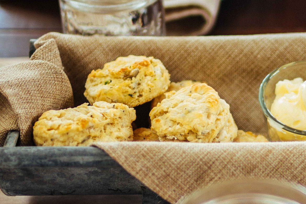 Point Reyes Cheese Bay Blue & Herb Biscuits recipe by chef Jennifer Luttrell