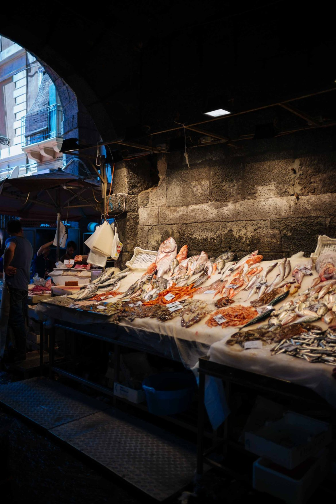 The Taste Edit buys the best fish at the historic Catania Fish Market in Sicily Italy.