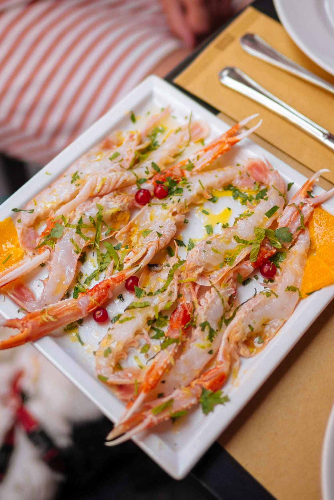 The Taste Edit goes to MM restaurant in Catania trying raw fish and crudo platters of prawns in Catania Italy Sicily.