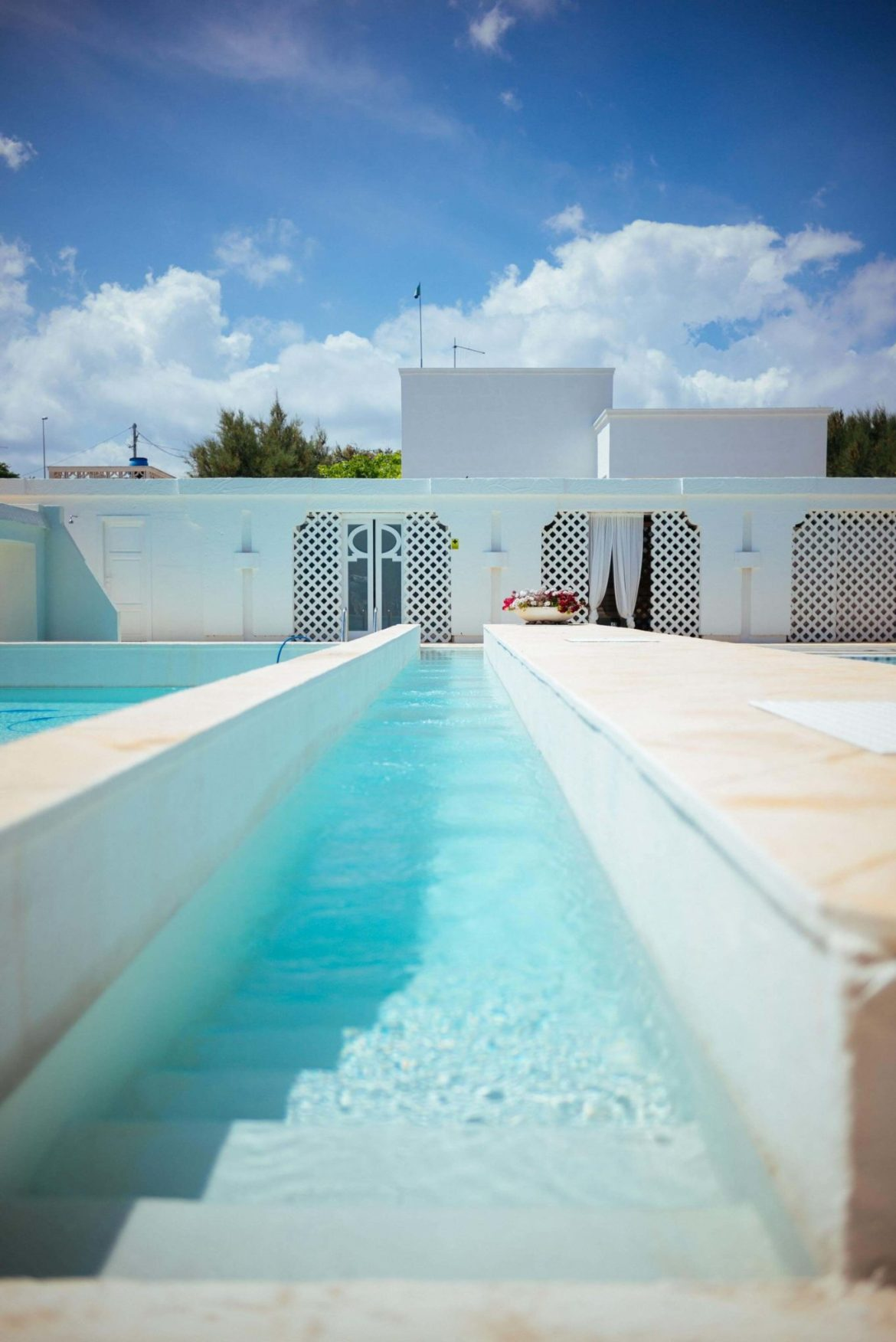 You'll find multiple shapes and sizes of pools at the luxury Puglia hotel La Peschiera just south of Monopoli, Italy, The Taste Edit