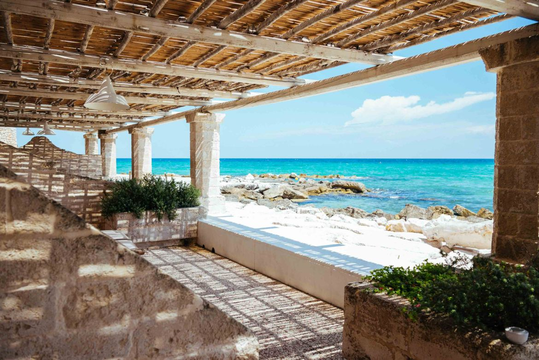 For a quiet luxury hotel in Puglia, La Peschiera Hotel in Puglia offers direct access to the sea.