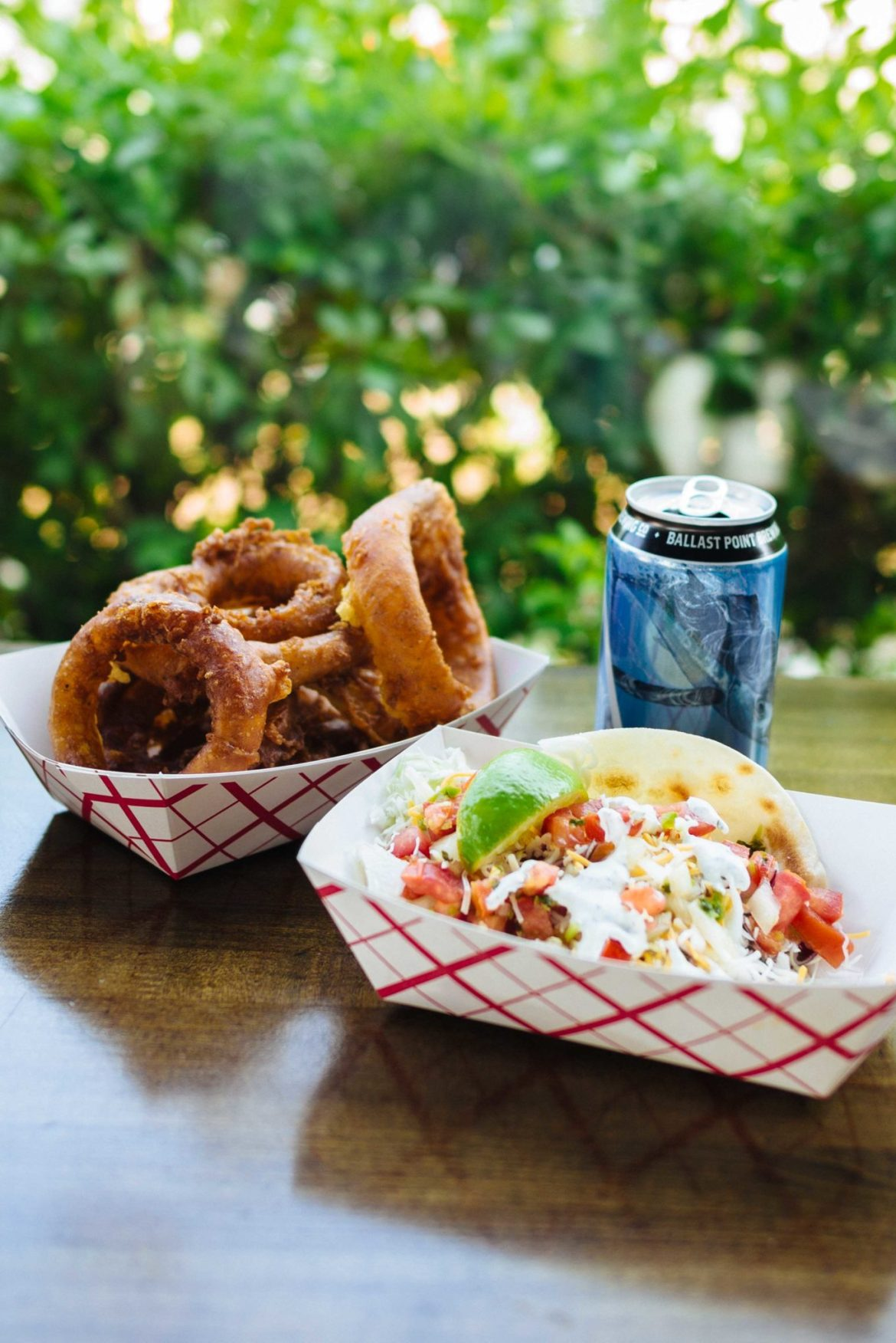 Sarah Stanfield from The Taste Edit recommends ordering fish tacos and onion rings at San Diegos Pacific Beach Fish Shop