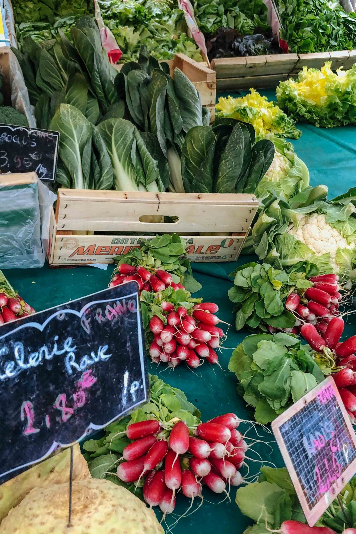 Visit the Paris markets to see seasonal vegetables and chefs - photo by Kate Leahy