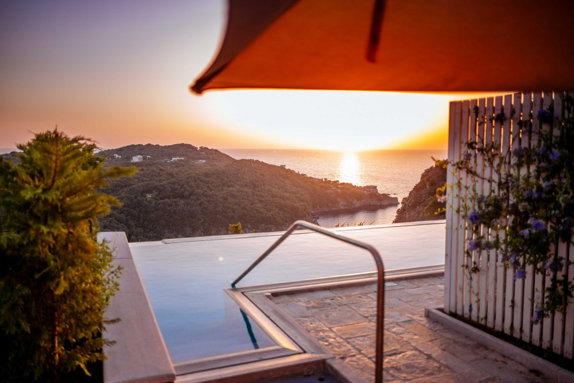 Watch the sunset from your suite in Ischia's San Montano Resort & Spa   thetasteedit.com #italy #travel #hotel #spa