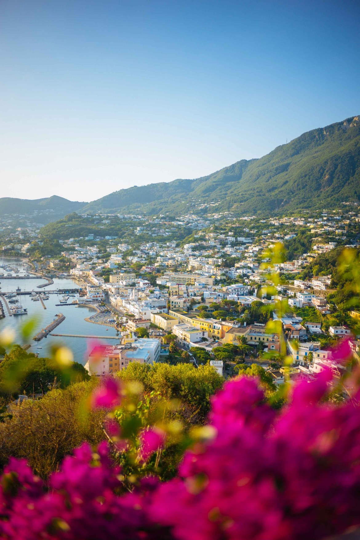 The view of the bay from the best hotel view Ischia's San Montano Resort & Spa   thetasteedit.com #italy #travel #hotel #spa
