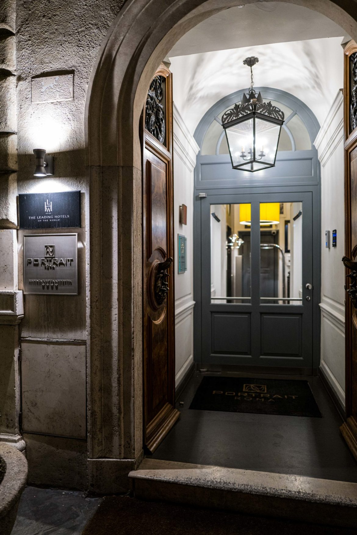 Exclusive entrance to the Portrait Roma owned by the Ferragamo Family Rome Hotel, The Taste Edit
