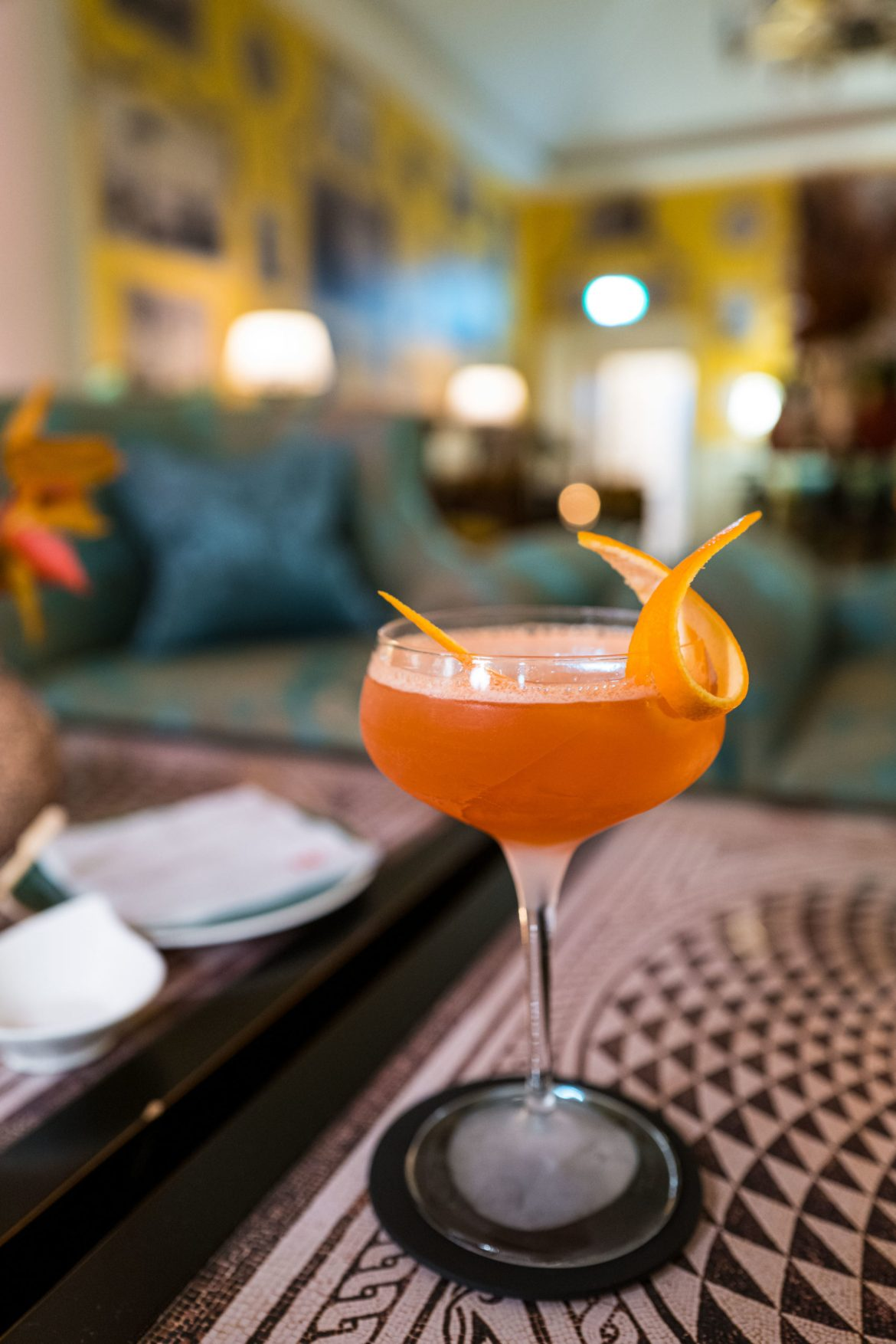 Order signature cocktails at Julep Herbal & Vermouth Bar at Rocco Forte's Hotel de la Ville Rome - The Taste Edit #rome #hotel #decor #travel
