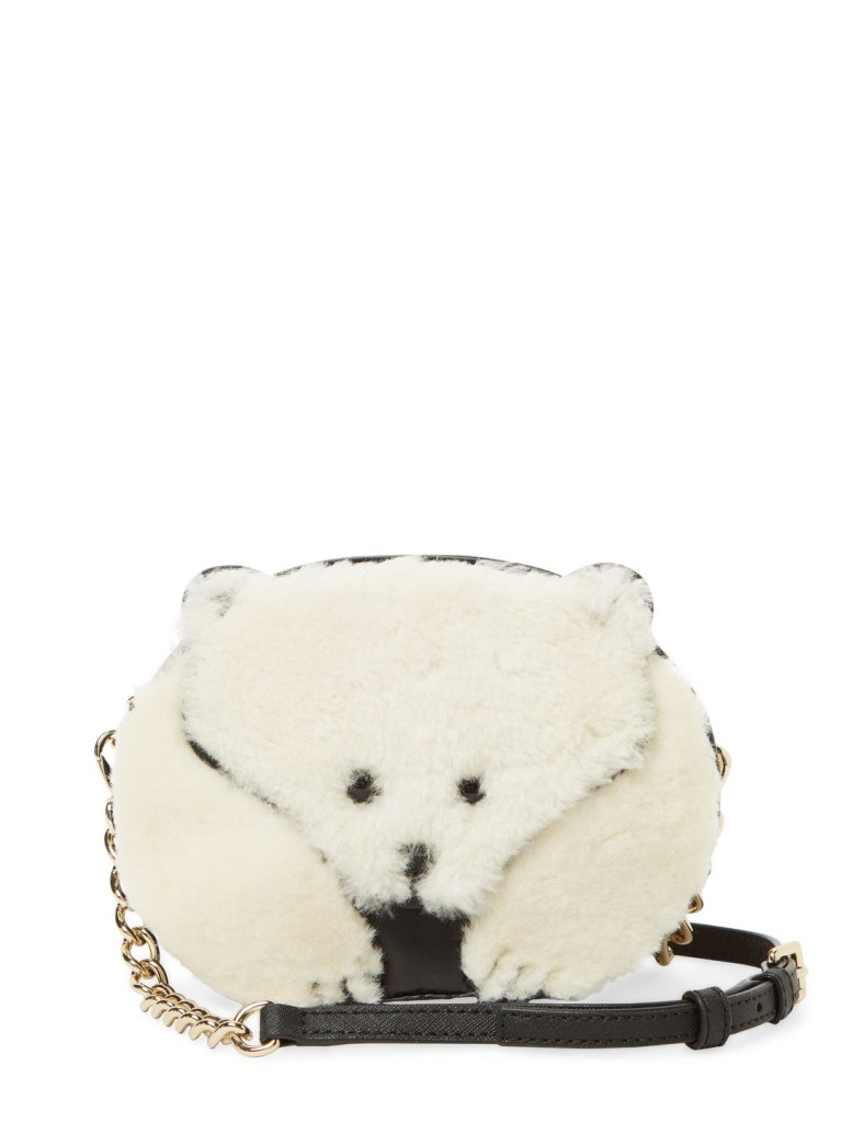 This caution to the wind polar bear crossbody for $189