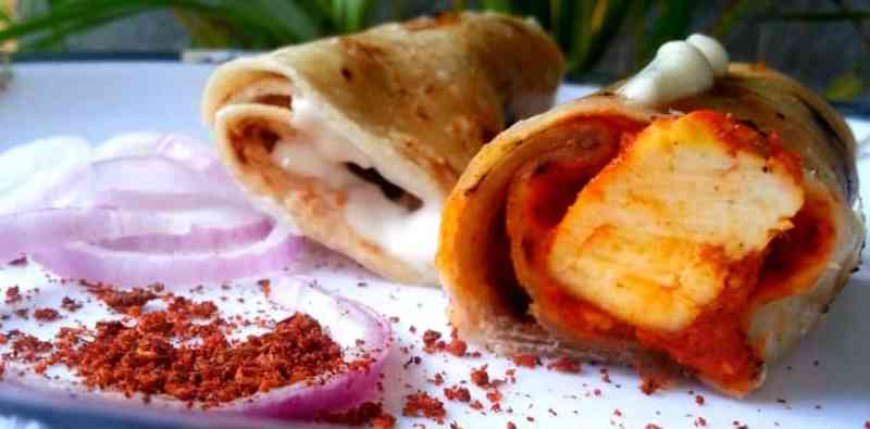 Cheesy Paneer Wrap Recipe