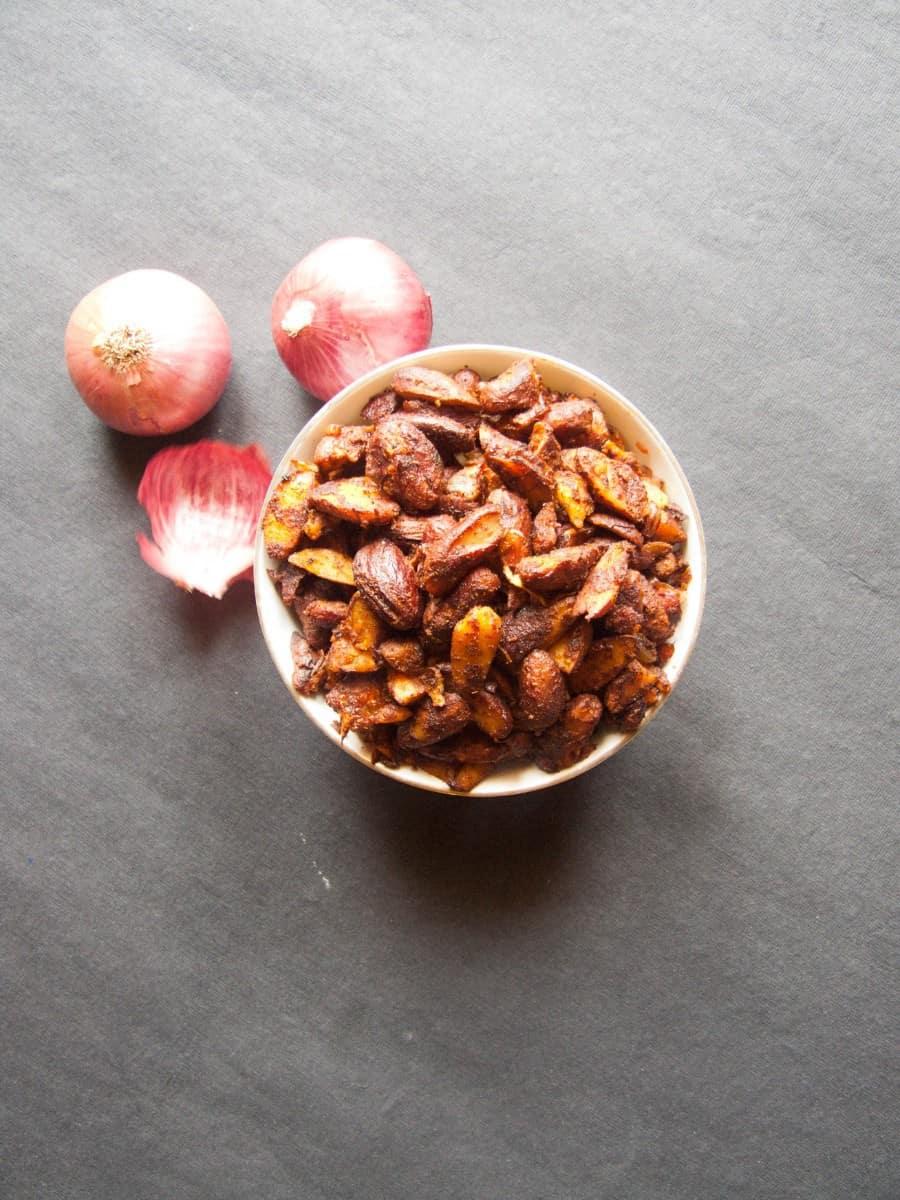 Jackfruit Seeds Stir Fry Recipe - Chakkakuru Mezhukkupuratti