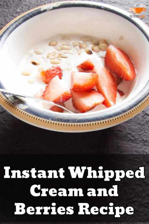 instant whipped cream and berries recipe