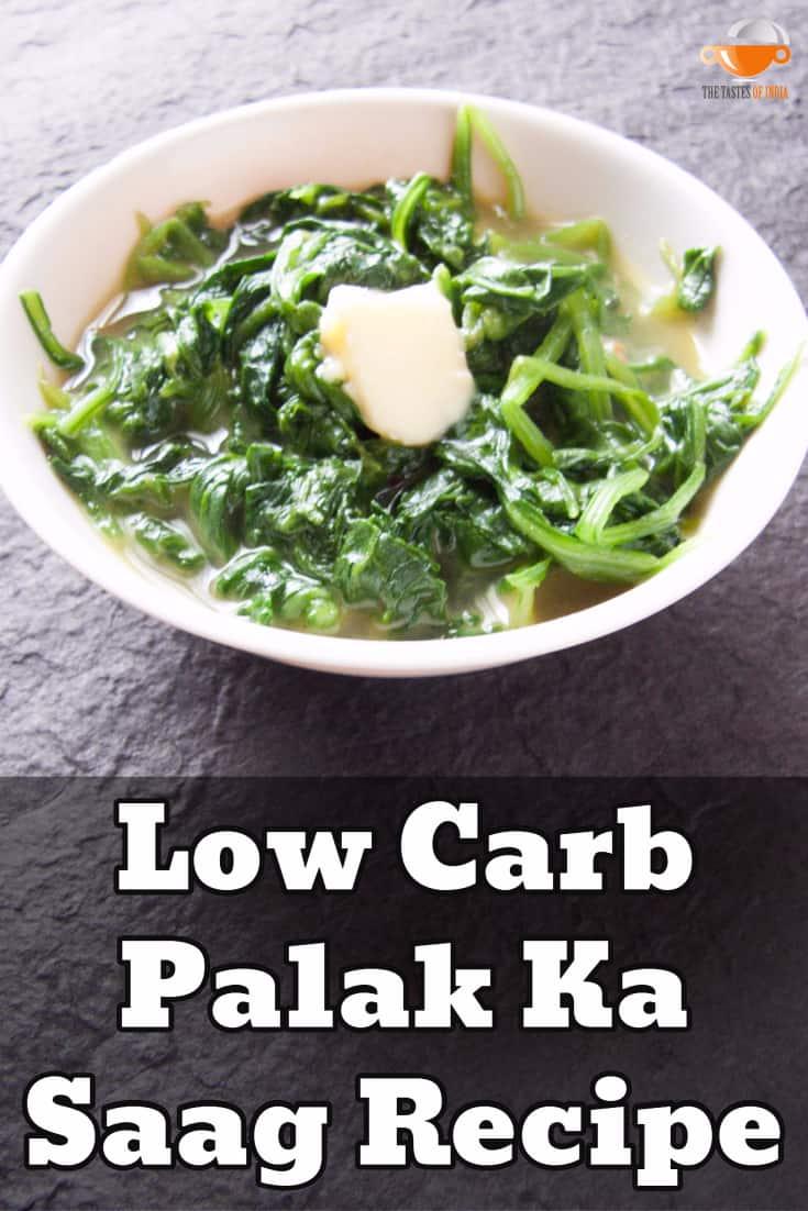 low carb palak ka saag recipe