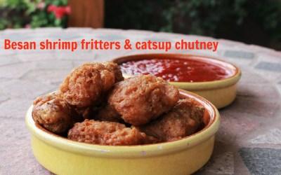 Crispy Chickpea Flour Shrimp Fritters