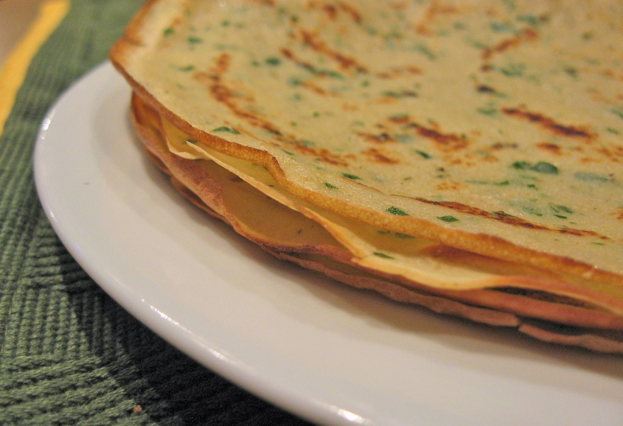 Crepes and Crêpes Célestines | Herbed Crepes
